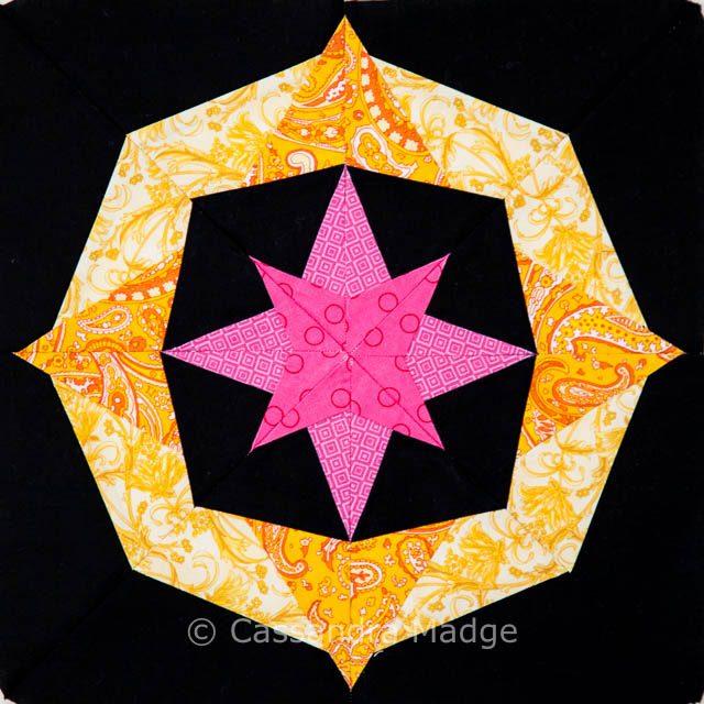 Qca Star Bee paper pieced block