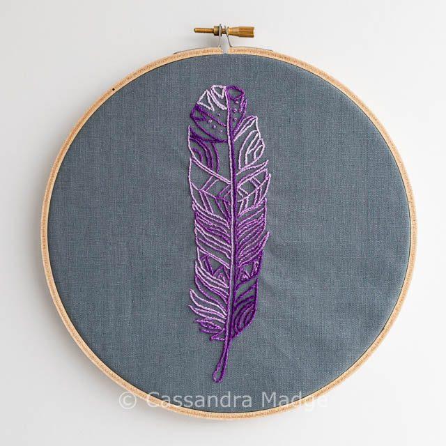 Feather hoop art - Cassandra Madge