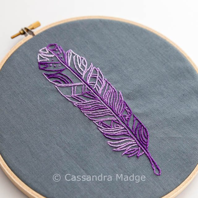 Feather hoop art - Cassandra Madge