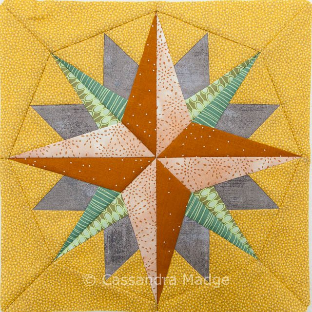 Qca Star Bee paper pieced block
