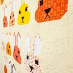 Bunnies and Boxes on the quilting frame