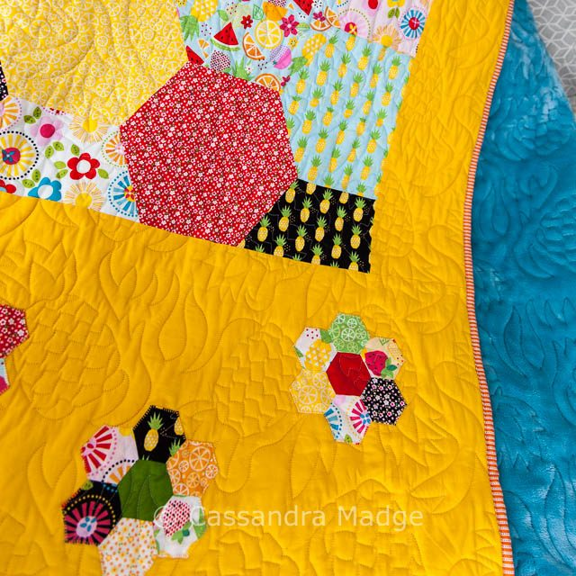 Fresh Market Pineapple Hexagon Quilt - Cassandra Madge
