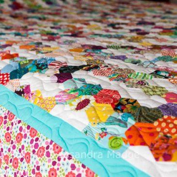 Summer Rain Hexagon Quilt – Completed