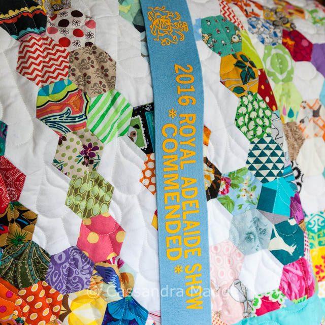 Summer Rain Hexagon Quilt - EPP - Cassandra Madge