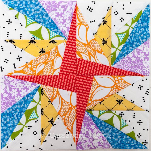 Summer Starburst Rainbow Block - Cassandra Madge