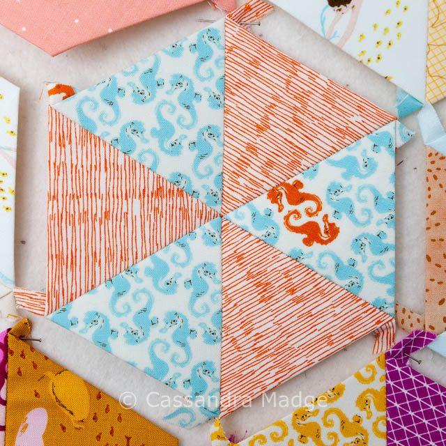 Mermaid Candy - EPP Hexagon Cassandra Madge