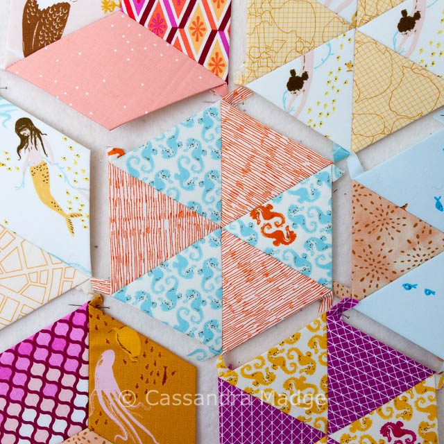 Mermaid Candy - EPP Hexagon Cassandra Madge