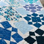 Constellations Quilt – on the quilting frame