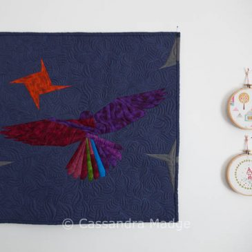 Flying High – Finished Mini Quilt