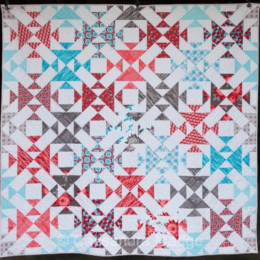 Wild Blooms – finished quilt