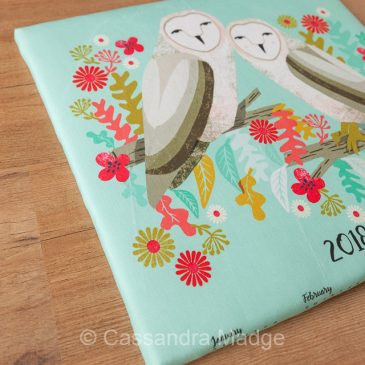 Super quick and simple canvas – DIY gift idea