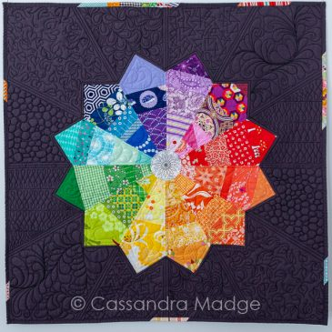 Modern Colour Wheel – a finished mini quilt
